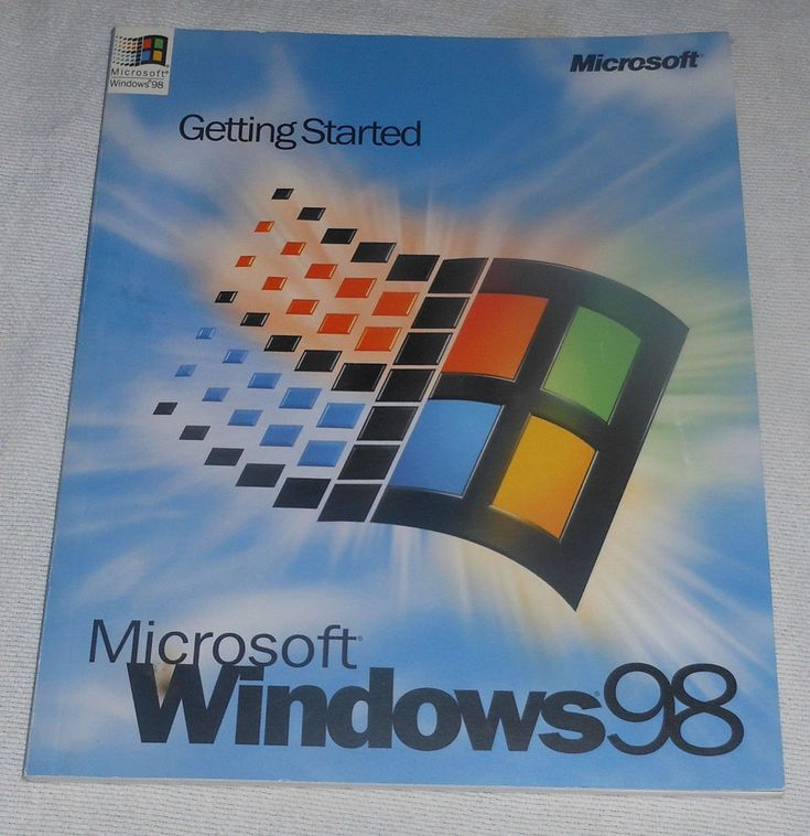Microsoft Windows 98 Gettting Started Manual 1998 PB Computer Installation #Textbook