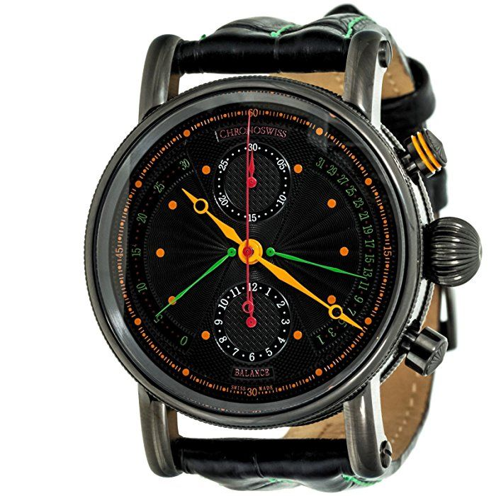 CHRONOSWISS Retrograde Chronograph automatic-self-wind mens Watch CH 7545B BK2 (Certified Pre-owned)