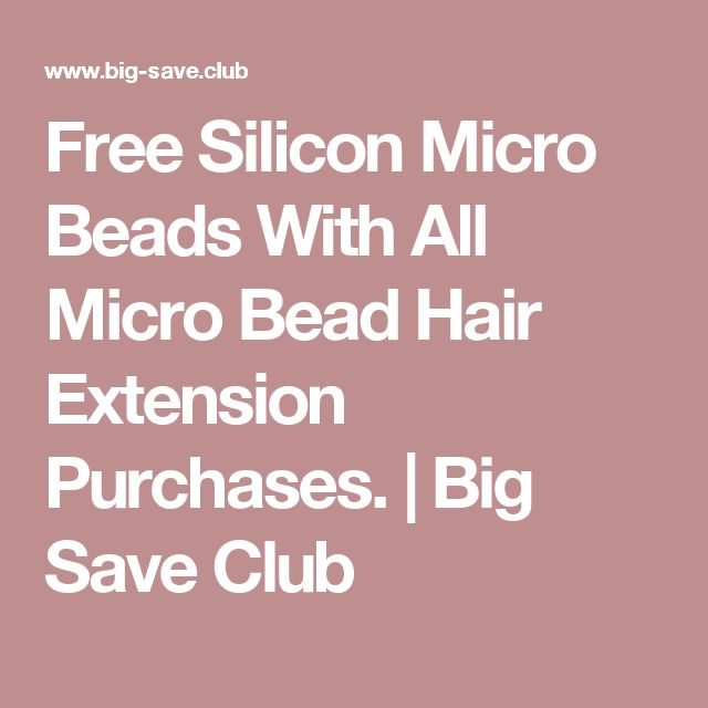 25 beautiful micro bead hair extensions ideas on pinterest free silicon micro beads with all micro bead hair extension purchases big save club pmusecretfo Image collections