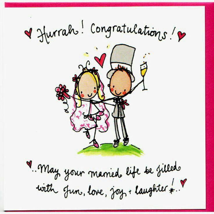Words Wedding Congratulations CardWedding