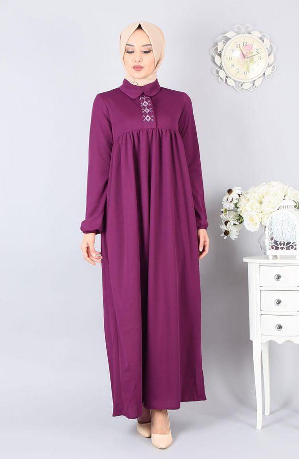 Islemeli Tesettur Robali Elbise Modelleri Elbise Modelleri Elbise Moda Stilleri