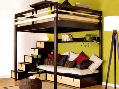 二段ベッド|2段ベッドで子供部屋を広く可愛く使うコツ
