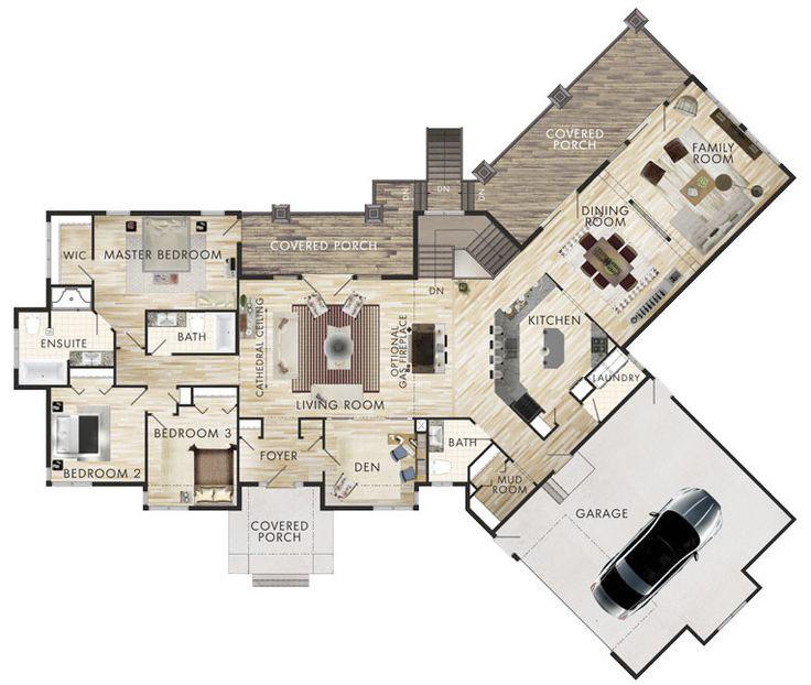 1 3 plano de casa grande 3 dormitorios 1 piso planos de - Planos de casas grandes ...