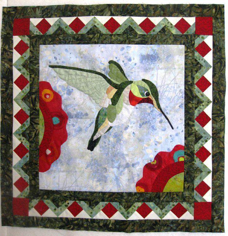 1000+ images about Hummingbird Applique Quilts / Patterns on Pinterest Hummingbirds, Bird ...