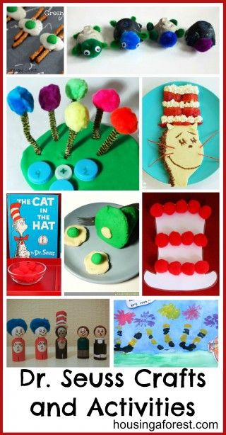 Dr Seuss Crafts and Activities. she's made a list of ones she's found from lots of blogs