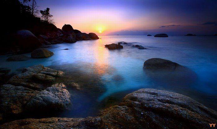 Good Night Belitung. Keciput, Sijuk, Belitung, Bangka Belitung Islands, Indonesia