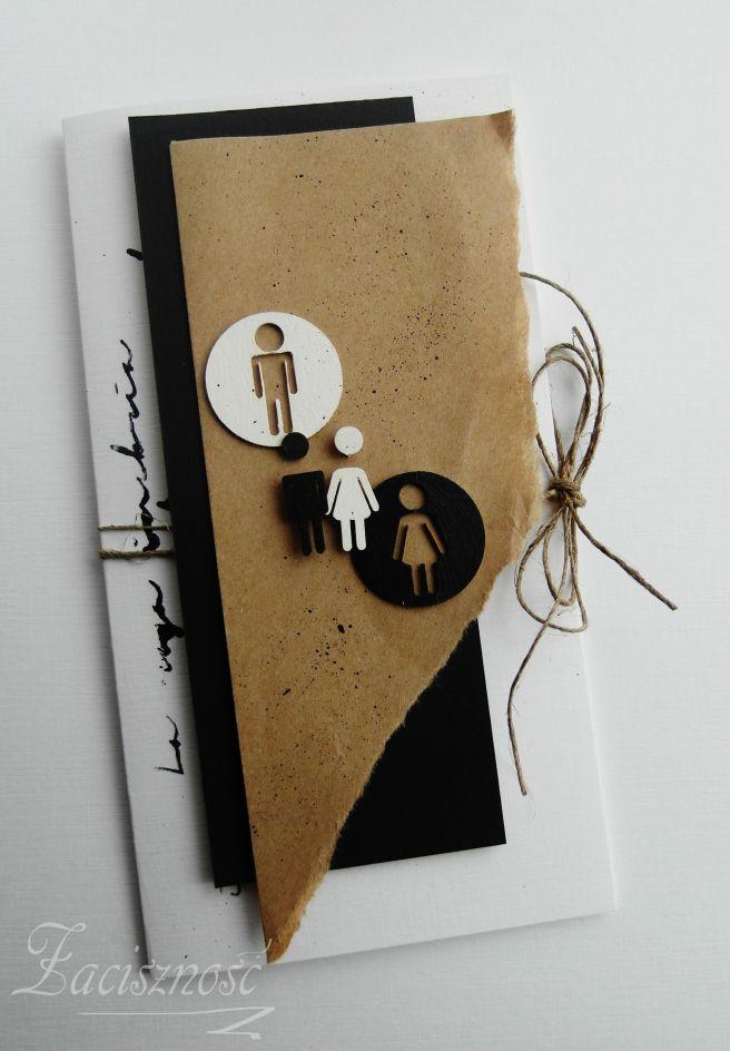 Prosta kartka ślubna/ Simple wedding card