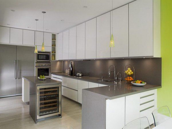 modern kitchen design 15 Cupboards going all the way to the ceiling