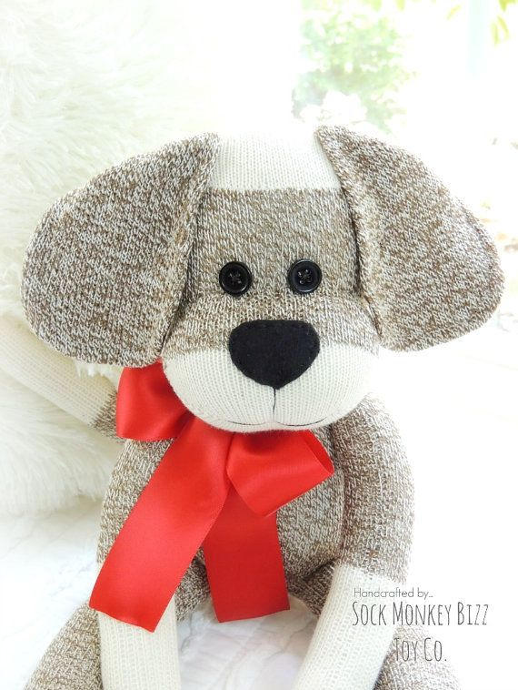Sock Monkey Doll, Long Eared Puppy Dog, New Design Release January 16th