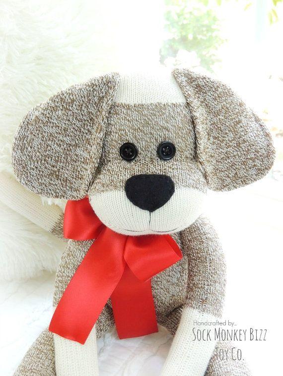 Sock Monkey Doll, longues oreilles chiot chien                                                                                                                                                                                 Plus