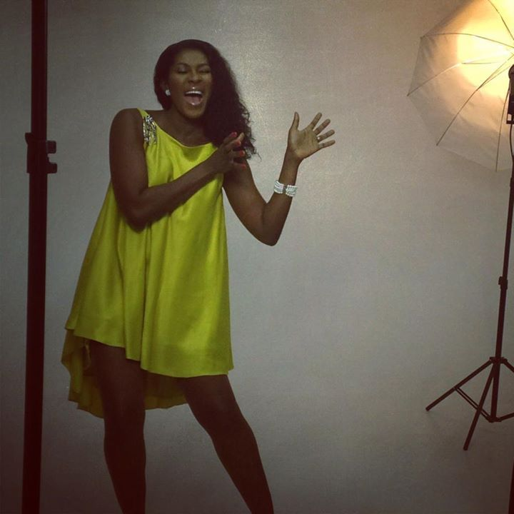 Stephanie Okereke - Linus on set #Nigerian #Nollywood #Actress