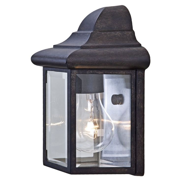 Pocket Lantern 1 Light Outdoor Flush Mount