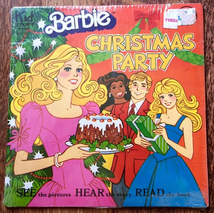 Sealed 1981 Barbie Christmas Party Book And Record Kid Stuff Hear Read