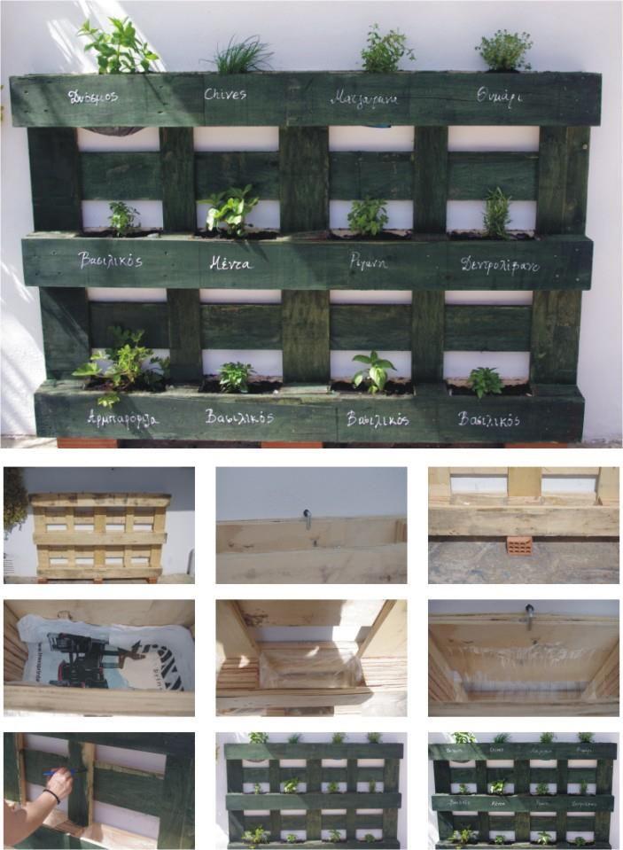 Pallet Herb Garden - for retaining wall in back yard? http://bigideamastermind.com/newmarketingidea?id=moemoney24