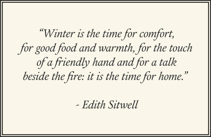 Seven Quotes About Winter
