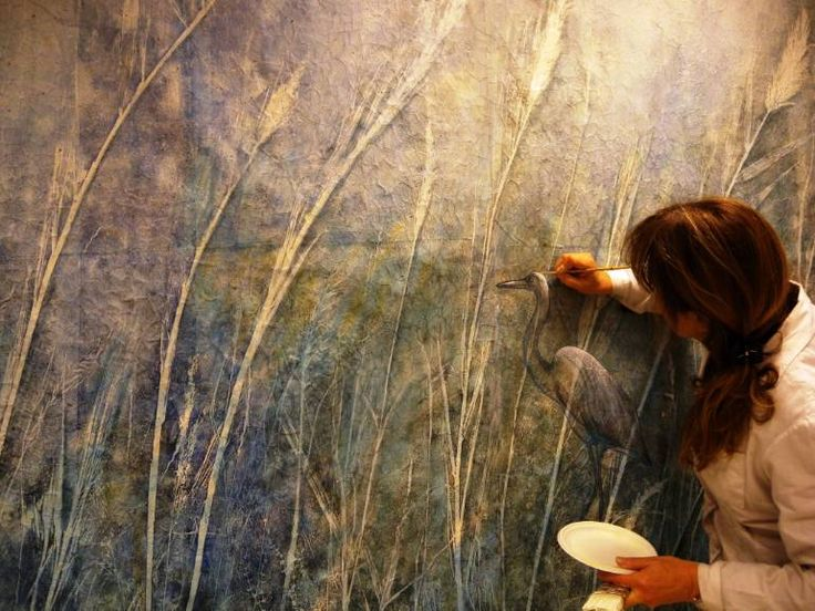 "Saatchi Art Artist Daniela Carletti; Photography, ""Working on my painting:On the path of herons n.3"" #art"