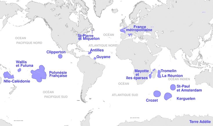 France's Exclusive Economic Zones - Maps on the Web