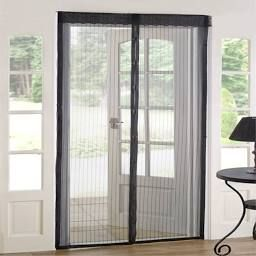As Seen on TV Magnetic Mesh Screen Door (Set of 2) (Magnetic Mesh Screen Door), Black