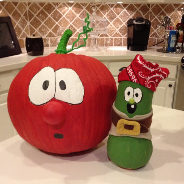 I have a toddler who loves veggie tales so this year for