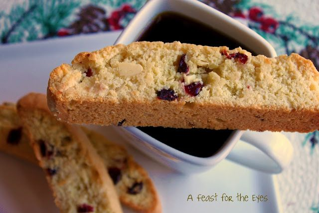 A Feast for the Eyes: Cranberry-Almond Biscotti