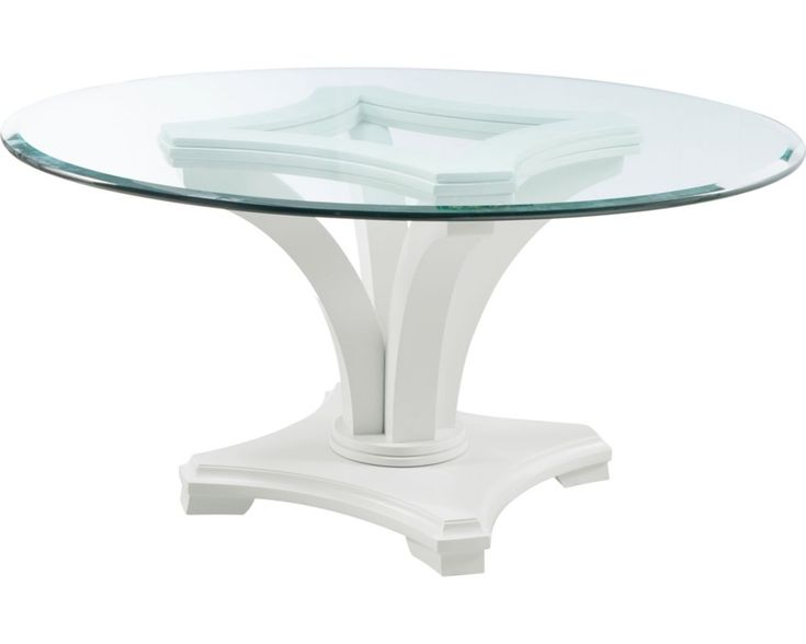 Seat Up To Six People At Manuscripts Round Glass Top Table Its Stylized Updated Traditional Form Creates A Sophisticated And Classic Look That Will