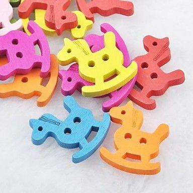 красочные троян альбом scraft швейные DIY Деревянные кнопки (10 шт) – RUB p. 68,65