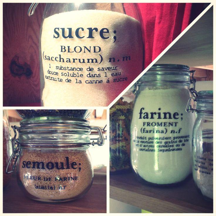 Customisation de bocaux de cuisine stickers noir silhouette cameo labels jars   made by Lily Ciboulette www.lilyciboulette.com