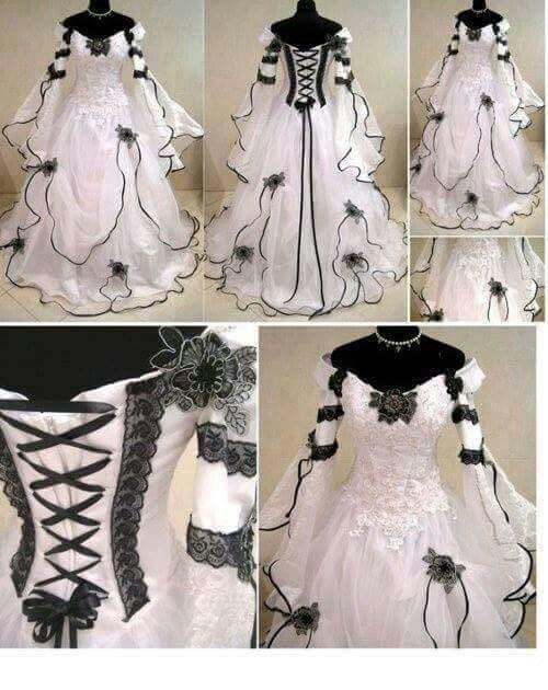 Emo wedding dress from stylish worlds fb page