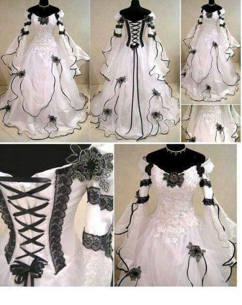 Emo wedding dress from stylish worlds fb page