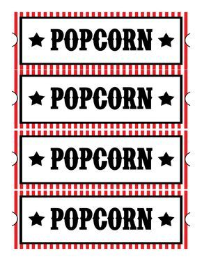 Free Printables: Home Movie Theatre Night These printables made movie night so much more fun for the kids. Cheap and easy fun!