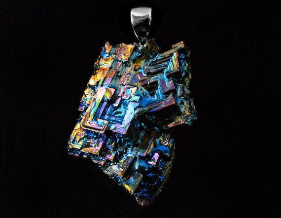 Iridescent Bismuth Metal Crystal  by Element83