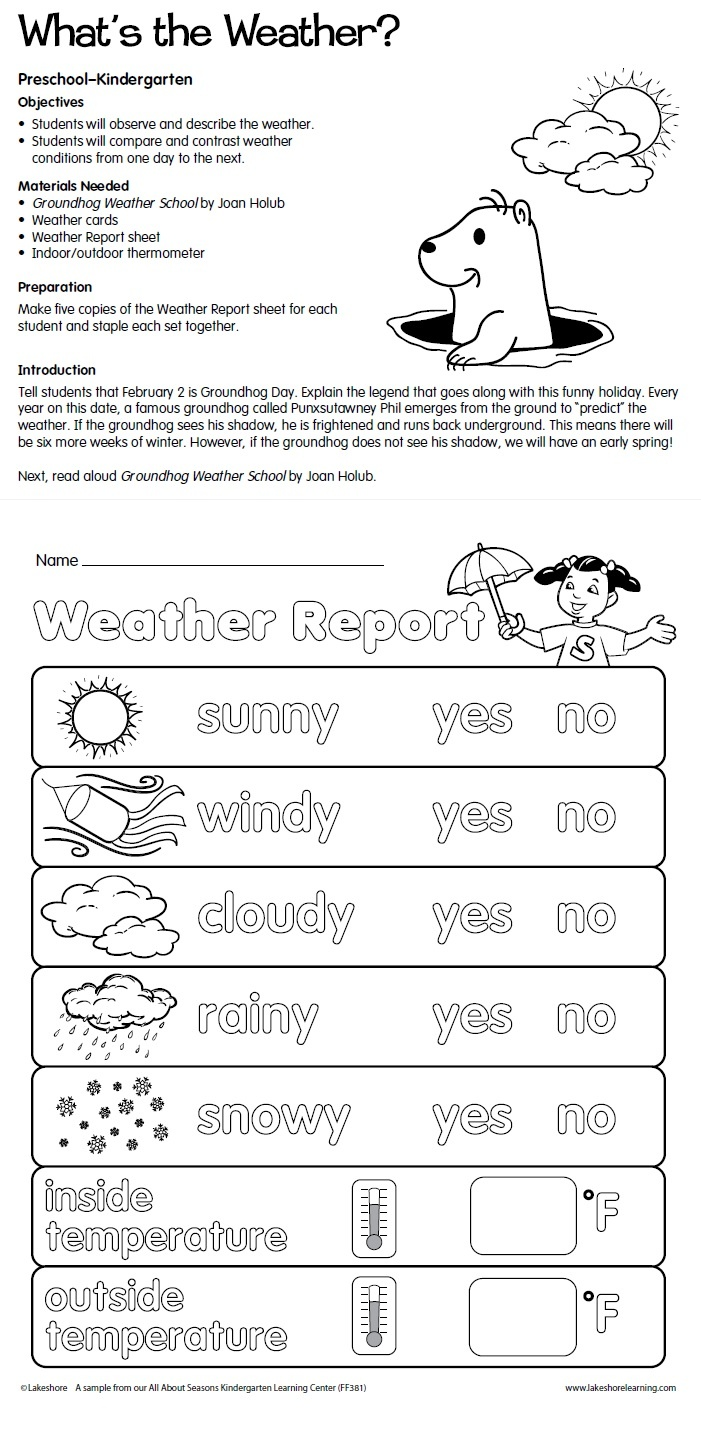 worksheet Weather Worksheets For Kindergarten 1000 ideas about weather lesson plans on pinterest preschool whats the plan from lakeshore learning children observe compare contrast
