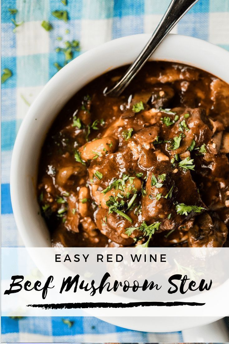 Beef Stew With Mushrooms In The Instant Pot Recipe Beef And Mushroom Stew Beef And Mushroom Recipe Mushroom Stew