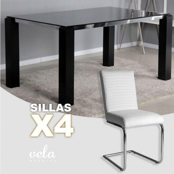 Mejores 23 im genes de conjuntos de mesas y sillas de for Sillas negras baratas