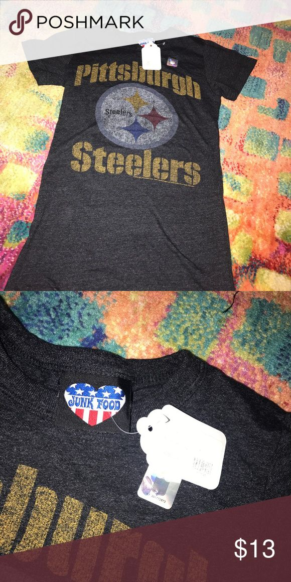 NFL Pittsburgh Steelers T-Shirt Ticket attached. Never Worn. Purchased at a boutique in Pittsburgh. Tops Tees - Short Sleeve