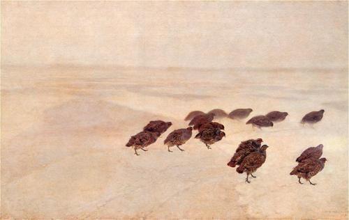 .: 1891 Partridges, Canvas Photos, Kuropatwy, Polish Painting, Oil On Canvas, Snow, Polish Art Sztuka