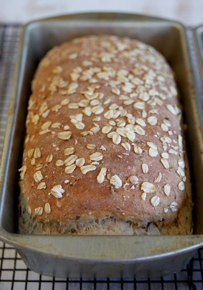 "Multi-grain Bread.  It's in the oven right now. It smells lovely! How brilliant to use seven grain hot cereal, by Bob's Red Mill to make it ""multi-grain"". ...Love..."