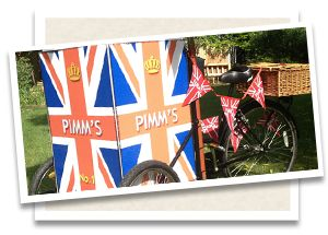 Pimms bike for arrival