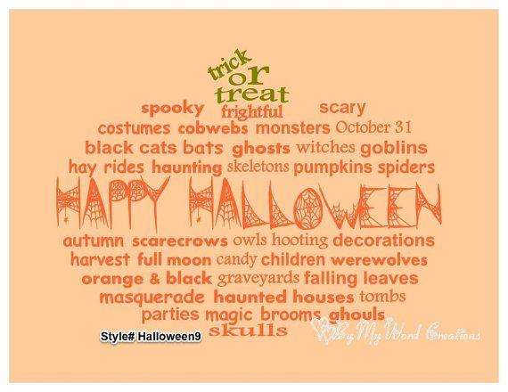 Handmade Halloween Pumpkin word art by ByMyWordCreations on Etsy, $20.00