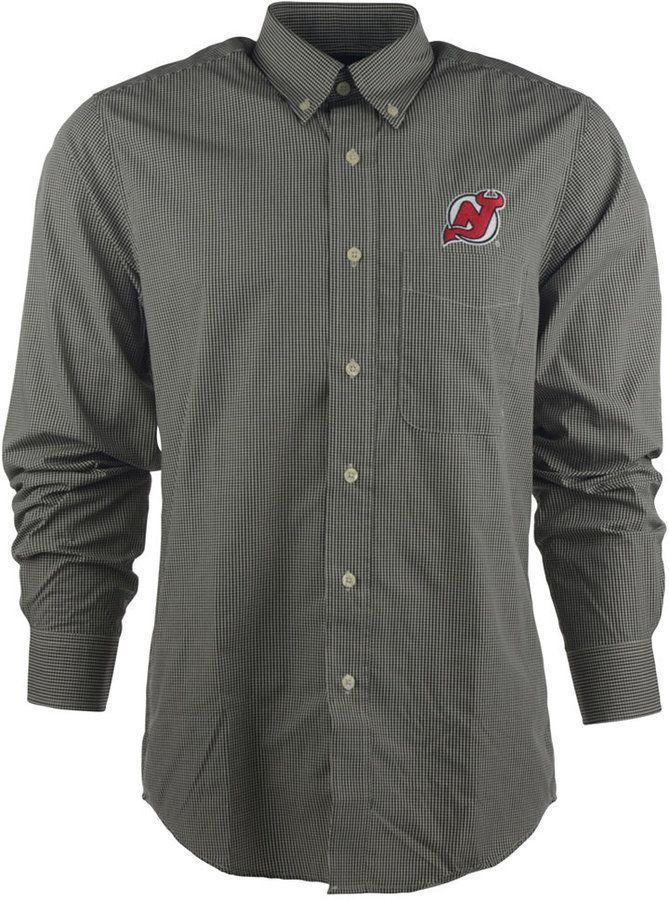 Antigua Men's Long-Sleeve New Jersey Devils Focus Shirt