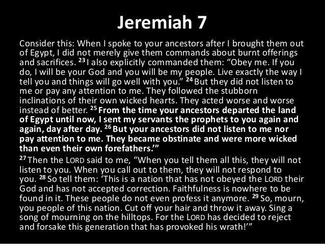 Image result for jeremiah 7 23