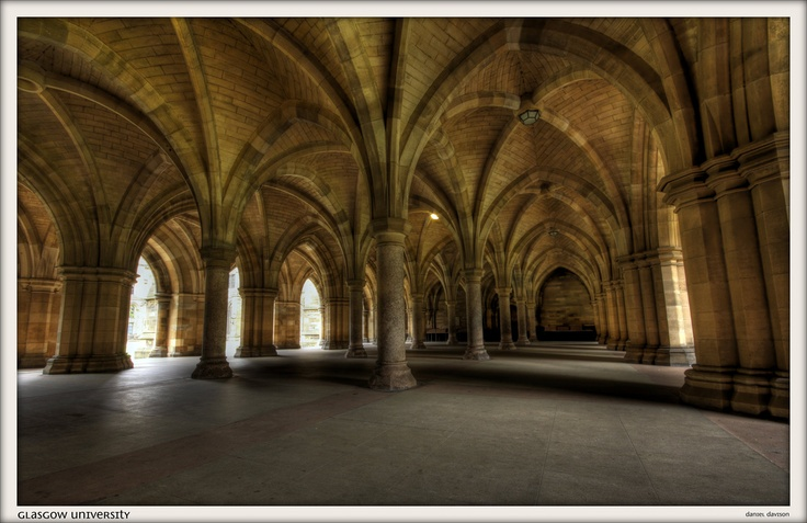 The alma mater of one of our members of staff...Glasgow University...these are the wonderful cloisters!