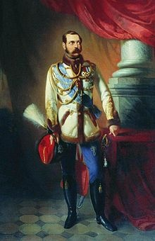 Alexander II, Emperor and Autocrat of All the Russias. Reigned 1855-1881. Assassinated. Succeeded by Alexander III.
