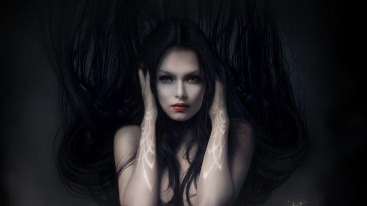1920x1080 Обои девушка, волосы, лицо, руки, уши