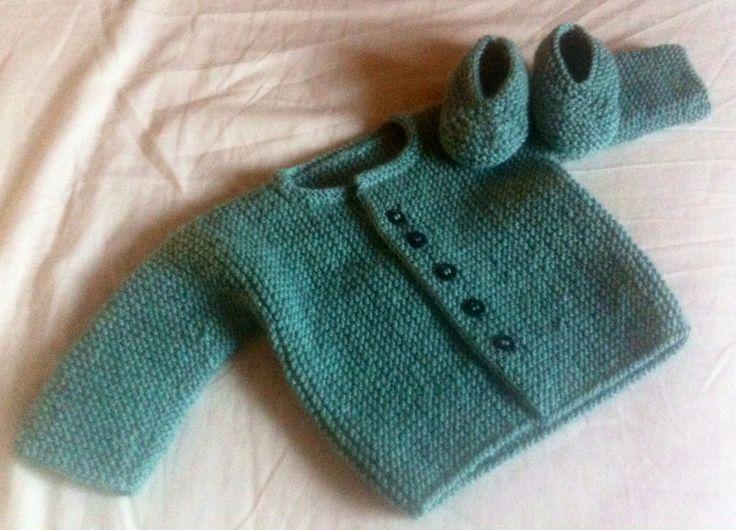 Mejores 64 im genes de punto bebe en pinterest tejido para beb prendas de punto de beb s y - Tejer chaqueta bebe 6 meses ...