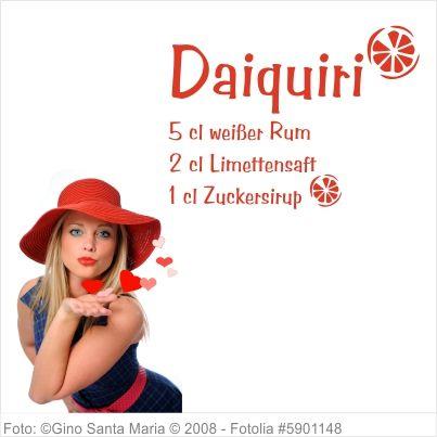Wandtattoo Küche - Cocktail Rezept Daiquiri