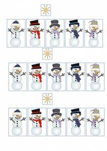 Pieces bonhommes de neige