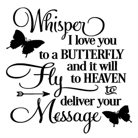 Download Image result for whisper i love you to a butterfly ...