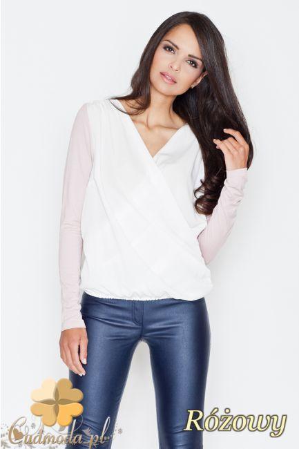 Dwukolorowa bluzka kopertowa marki FIGL.  #cudmoda #moda #ubrania #odzież #clothes #bluzki