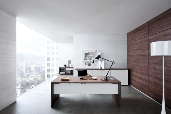 REX COLLECTION #executive #office #officefurniture  Rex Executive Office combines pleasant traditional comfort and modern functionality, for a manager bound to sober lines and warm wood finish. Desks and tables with traditional lines, shaped with important depth, spaces changeable in operative working islands.